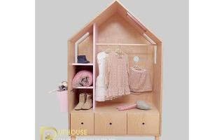 Tủ quần áo trẻ em bằng gỗ U36