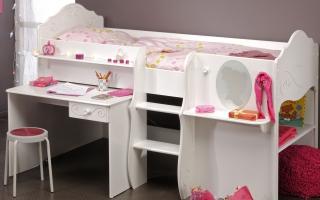 mẫu giường ngủ gỗ đẹp cho bé U18