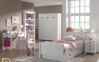 mẫu giường ngủ gỗ đẹp cho bé U33