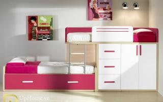 mẫu giường tầng gỗ đẹp U5
