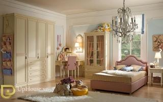 mẫu giường ngủ gỗ đẹp cho bé U49