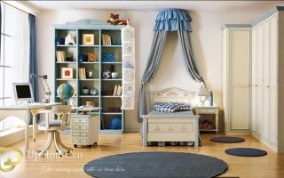 mẫu giường ngủ gỗ đẹp cho bé U54