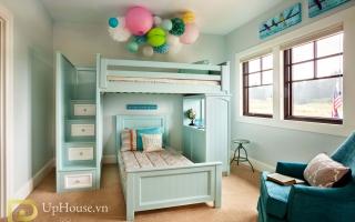 mẫu giường tầng gỗ đẹp U1