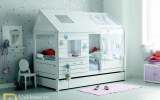 mẫu giường tầng gỗ đẹp U18