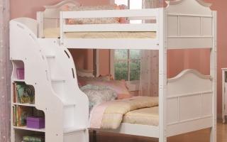 mẫu giường tầng gỗ đẹp U24