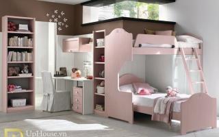 mẫu giường tầng gỗ đẹp U29