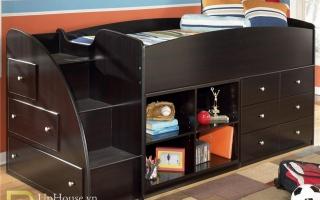 mẫu giường tầng gỗ đẹp U30