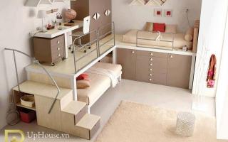 mẫu giường tầng gỗ đẹp U6