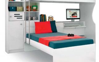 mẫu giường tầng gỗ đẹp U8