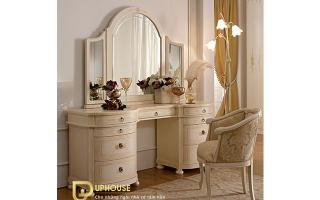 Mẫu bàn phấn trang điểm gỗ đẹp U1