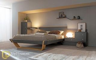 Mẫu giường ngủ gỗ đẹp U49