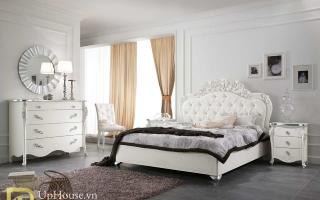 Mẫu giường ngủ gỗ đẹp U66