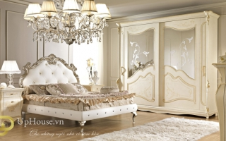 Mẫu giường ngủ gỗ đẹp U73