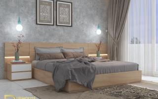 Mẫu giường ngủ gỗ đẹp U19
