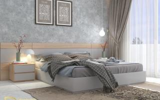 Mẫu giường ngủ gỗ đẹp U26