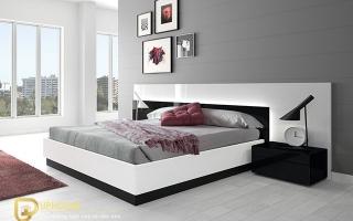 Mẫu giường ngủ gỗ đẹp U52
