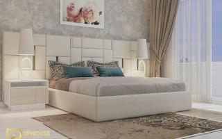 Mẫu giường ngủ gỗ đẹp U55a