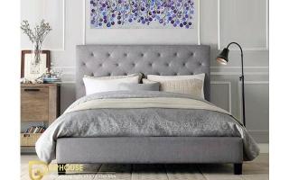 Mẫu giường ngủ gỗ đẹp U58