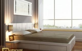 Mẫu giường ngủ gỗ đẹp U7