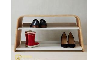 Mẫu tủ kệ giầy dép gỗ đẹp U1