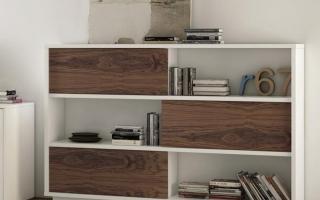 Mẫu tủ kệ gỗ trang trí đẹp U57