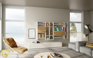 Mẫu tủ kệ gỗ trang trí đẹp U96