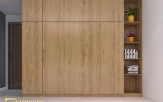 Mẫu tủ quần áo gỗ đẹp U8a
