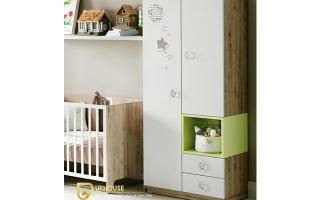 Tủ quần áo trẻ em bằng gỗ U14