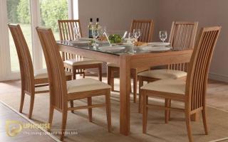 Bộ bàn ăn gỗ đẹp U11