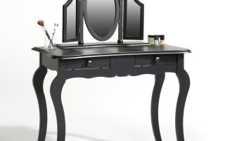 Mẫu bàn phấn trang điểm gỗ đẹp U10