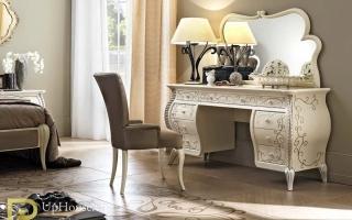 Mẫu bàn phấn trang điểm gỗ đẹp U34