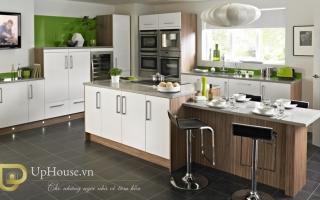 Mẫu tủ kệ bếp gỗ đẹp U15