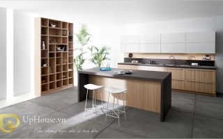 Mẫu tủ kệ bếp gỗ đẹp U24