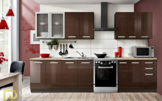 Mẫu tủ kệ bếp gỗ đẹp U27