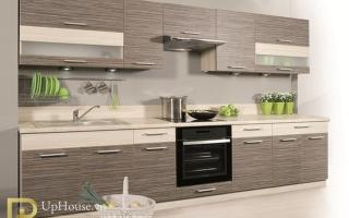 Mẫu tủ kệ bếp gỗ đẹp U30