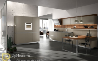 Mẫu tủ kệ bếp gỗ đẹp U37