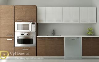 Mẫu tủ kệ bếp gỗ đẹp U38