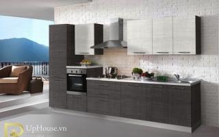 Mẫu tủ kệ bếp gỗ đẹp U44