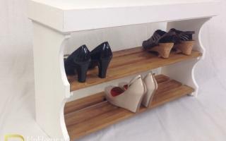 Mẫu tủ kệ giầy dép gỗ đẹp U17