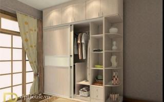 Mẫu tủ quần áo gỗ đẹp U52