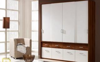 Mẫu tủ quần áo gỗ đẹp U57