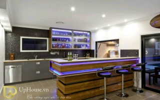 Mẫu tủ quầy bar gỗ đẹp U12