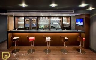 Mẫu tủ quầy bar gỗ đẹp U14