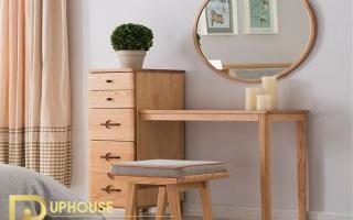 Mẫu bàn phấn trang điểm gỗ đẹp U15