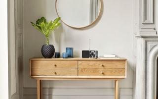 Mẫu bàn phấn trang điểm gỗ đẹp U27
