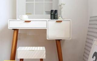 Mẫu bàn phấn trang điểm gỗ đẹp U29