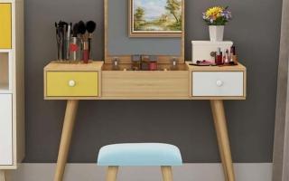 Mẫu bàn phấn trang điểm gỗ đẹp U9