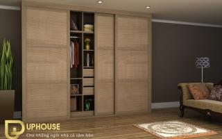 Mẫu tủ quần áo gỗ đẹp U24