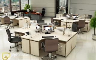 Mẫu bàn văn phòng đẹp U11