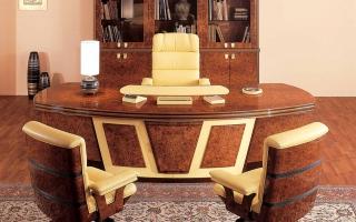 mẫu bàn làm việc văn phòng đẹp của giám đốc U1